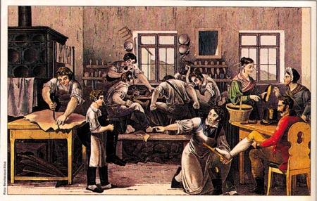 ilustracao-de-sapataria-na-epoca-da-revolucao-industrial-jornada-de-trabalho-de-mais-de-12-horas1