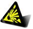 cartello pericolo esplosivo